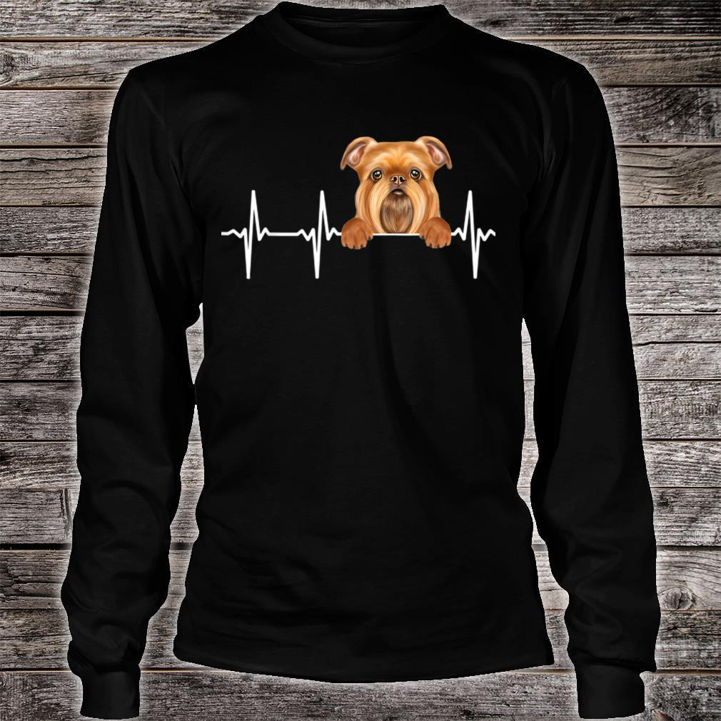 Funny Dog Heartbeat For Brussels Griffons Shirt long sleeved