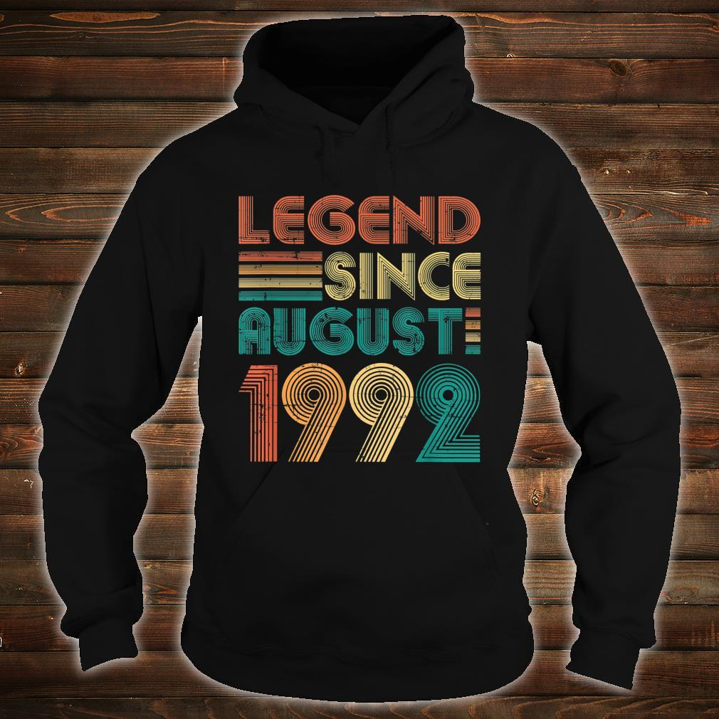 Legend Since August 1992 29th Birthday 29 Years Old Shirt hoodie
