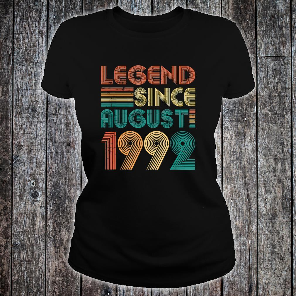 Legend Since August 1992 29th Birthday 29 Years Old Shirt ladies tee