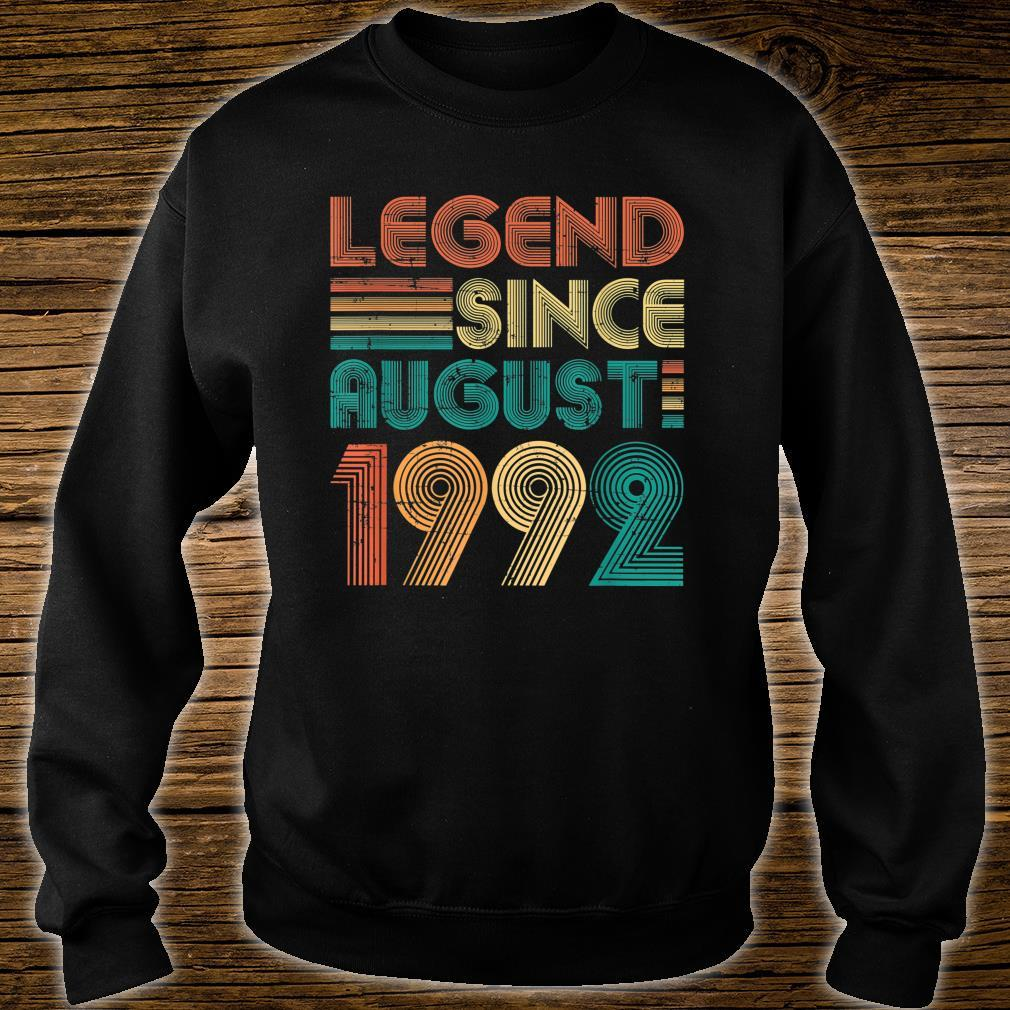 Legend Since August 1992 29th Birthday 29 Years Old Shirt sweater